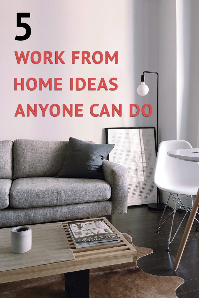 work from home ideas anyone can do without any prior experience needed.